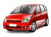 3D Red Car