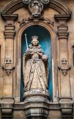 Elizabeth I Statue At St Dunstan In The West