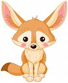 Illustration of cute Fox Fennec