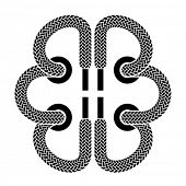 vector shoe lace brain symbol