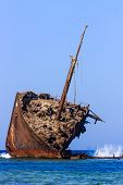Ship Wreck On The Reef