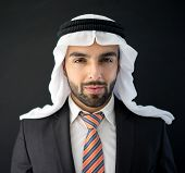 Arabic young businessman posing