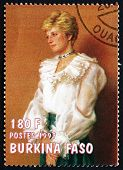 Postage Stamp Burkina Faso 1997 Diana, Princess Of Wales