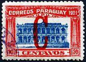 Postage Stamp Paraguay 1922 Parliament Building, Asuncion