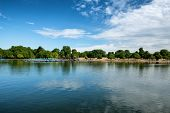 The Serpentine Lake at Hyde Park in London, UK