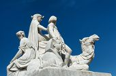 picture of kensington  - Closeup of stone statues at the Albert Memorial in Kensington Gardens - JPG