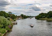 River Thames at Hampton Court Palace near London, UK