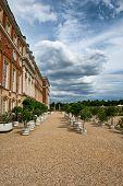 Hampton Court Palace and Green Fountain Garden near London, UK