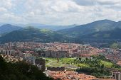 pic of basque country  - Panorama on the center of Bilbao Basque country Spain.