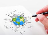 Hand Drawing Travel