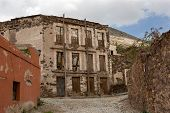Real De Catorce Streetscape With Anbandoned Hotel
