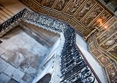 HAMPTON COURT, UK - AUGUST 03, 2014 - The King's Stairs at Hampton Court Palace near London, UK on August 03, 2014