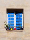 Window Of Old Buildings In Paris.