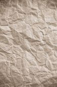 wrinkled parcel paper as texture