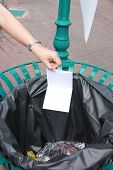 Hand Pick The Garbage Put Into Bins.