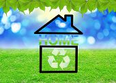 Recycle Sign In Home Icon.