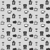 Seamless Coffee Set Pattern