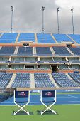 Arthur Ashe Stadium at the Billie Jean King National Tennis Center ready for US Open tournament