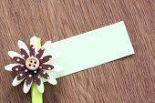 Hairpins Of Brown Pattern And Note Paper.