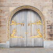 Door With Gold Plating