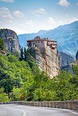 Rousanou Monastery at Meteora in Trikala region in summer, Greece.
