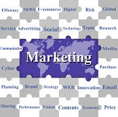 Jigsaw Puzzles Wording Of Marketing