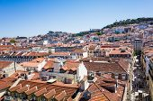 Lisbon, Portugal.- May 11: Old Town Lisbon on May 11, 2014. street view of typical houses in Lisbon,