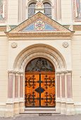 Portal Of Sts Cyril And Methodius Church (1880). Zagreb, Croatia