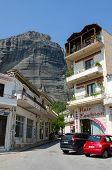 Greece, Meteora, A Narrow Street In The Village Of Kalambaka