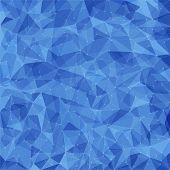 Abstract blue vector mosaic pattern. Vector pattern with paper texture and dots. Vector abstract background