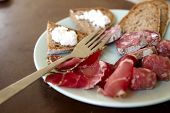 Prosciutto, Salami, Sausage and Bread