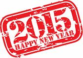 stock photo of happy new year 2014  - Happy new 2014 year grunge rubber stamp vector illustration - JPG