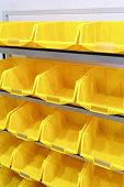 Yellow Plastic Racks