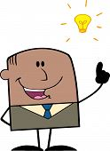 African American Businessman With A Bright Idea