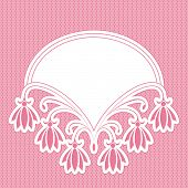 Cute Floral Frame. Objects Grouped And Named In English. No Mesh, Gradient, Transparency Used.