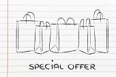 Special Offer Shopping Bags Illustration