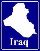 Silhouette Map Of Iraq