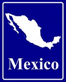 Silhouette Map Of Mexico