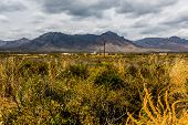Western Mountain Range in New Mexico.  Rugged Wild West.
