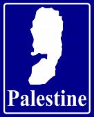 Silhouette Map Of Palestine