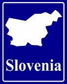 Silhouette Map Of Slovenia