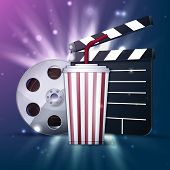 pic of clapper board  - Popcorn box - JPG