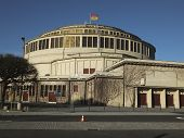 Hala Stulecia (centennial Hall) Also Known As Hala Ludowa (people's Hall) In Wroclaw, Poland