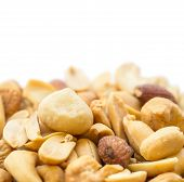 Mixed Nuts Isolated On White
