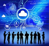 Vector of Business People Discussing about Cloud Computing