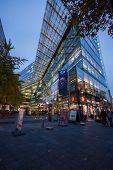 Berlin, Germany - November 12, 2014: The Shopping Street Kurfuerstendamm Over Night Illumination In