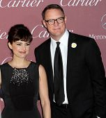 PALM SPRINGS, CA - JAN 3: Carla Gugino and Matthew Lillard arrive at the 2015 Palm Springs Film Festival Awards Gala at the Palm Springs Convention Center on January 3, 2015 in Palm Springs, CA.