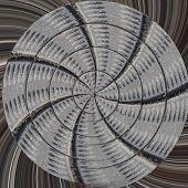 Radial Cobblestone Pavement Texture