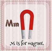 A letter M which stands for magnet