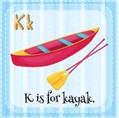 A letter K for kayak